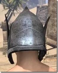 Dark Elf Iron Helm - Male Rear