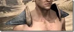 Dark Elf Iron Pauldron - Male Front