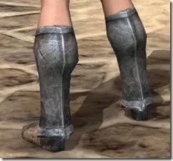 Dark Elf Iron Sabatons - Female Rear