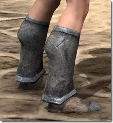 Dark Elf Iron Sabatons - Female Right