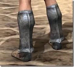 Dark Elf Iron Sabatons - Male Rear