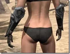Dark Elf Orichalc Gauntlets - Female Rear