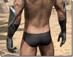 High Elf Orichalc Gauntlets - Male Rear