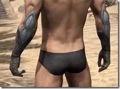 High Elf Steel Gauntlets - Male Rear