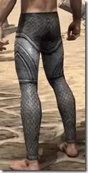 High Elf Steel Greaves - Male Rear