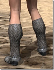 High Elf Steel Sabatons - Female Rear