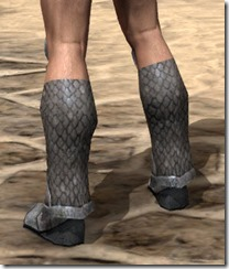 High Elf Steel Sabatons - Male Rear