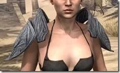 Hlaalu Iron Pauldron - Female Front