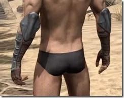 Imperial Steel Gauntlets - Male Rear