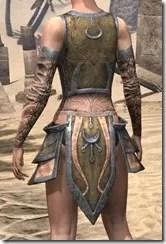 Khajiit Dwarven Cuirass - Female Rear