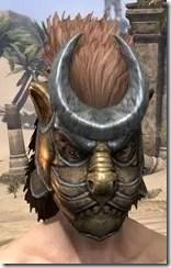 Khajiit Dwarven Helm - Male Front