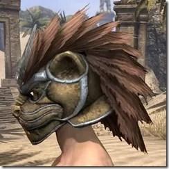 Khajiit Dwarven Helm - Male Side