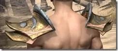 Khajiit Dwarven Pauldron - Male Rear