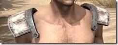 Khajiit Homespun Epaulets - Male Front