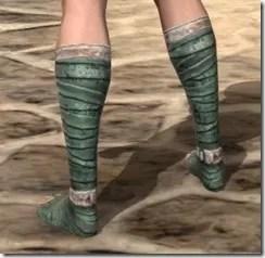 Khajiit Homespun Shoes - Female Rear