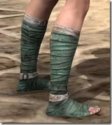 Khajiit Homespun Shoes - Female Right