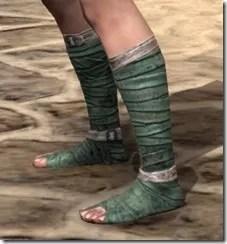 Khajiit Homespun Shoes - Female Side