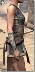 Khajiit Iron Cuirass - Female Right