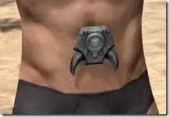 Khajiit Iron Girdle - Male Front