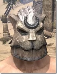 Khajiit Iron Helm - Male Front