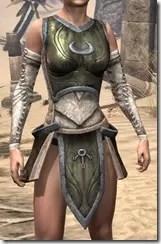Khajiit Orichalc Cuirass - Female Front