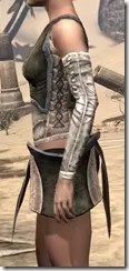 Khajiit Orichalc Cuirass - Female Side