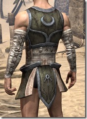 Khajiit Orichalc Cuirass - Male Rear