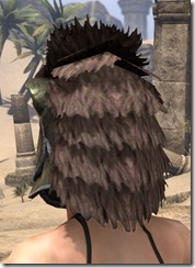 Khajiit Orichalc Helm - Female Rear