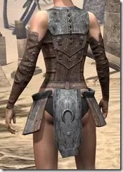 Khajiit Steel Cuirass - Female Rear