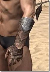 Khajiit Steel Gauntlets - Male Side