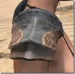 Khajiit Steel Pauldrons - Female Right