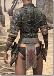 Morag Tong Iron Cuirass - Female Rear