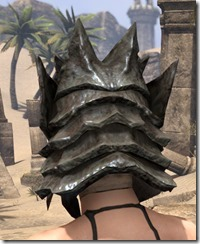 Morag Tong Iron Helm - Female Rear