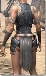 Silken Ring Iron Cuirass - Female Rear