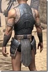 Silken Ring Iron Cuirass - Male Rear