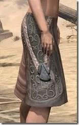 Silken Ring Iron Greaves - Female Right
