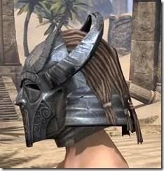 Silken Ring Iron Helm - Male Side