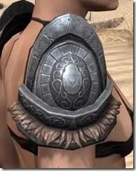 Silken Ring Iron Pauldron - Female Right