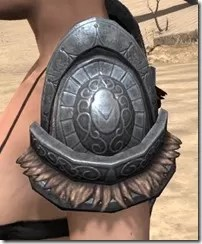 Silken Ring Iron Pauldron - Female Side