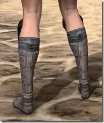 Silken Ring Iron Sabatons - Female Rear