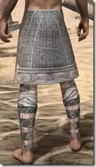 Telvanni Iron Greaves - Male Rear