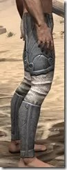 Ancient Elf Iron Greaves - Male Right
