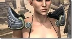 Ancient Elf Iron Pauldron - Female Front