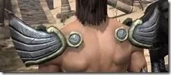 Ancient Elf Iron Pauldron - Male Rear