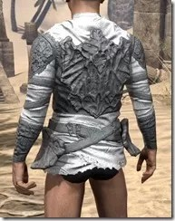 Ashlander Iron Cuirass - Male Rear