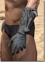 Ashlander Iron Gauntlets - Male Side