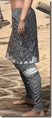 Ashlander Iron Greaves - Female Side