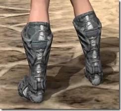 Ashlander Iron Sabatons - Female Rear