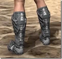 Ashlander Iron Sabatons - Male Rear