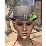 "Camlorn ""Lucky Bouquet"" Top Hat"